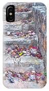 Colorful Fall Leaves Autumn Stone Steps Old Mentone Inn Alabama IPhone Case