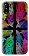 Colorful Feather Fern - 4 X 4 - Abstract - Fractal Art - Square IPhone Case
