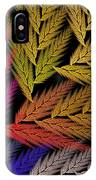 Colorful Feather Fern - Abstract - Fractal Art - Square - 2 Tr IPhone Case