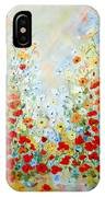 Colorful Field Of Poppies IPhone Case