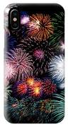 Colorful Fireworks Of Various Colors In Night Sky IPhone Case