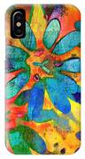 Colorful Floral Abstract IIi IPhone Case