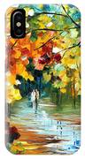 Colorful Forest - Palette Knife Oil Painting On Canvas By Leonid Afremov IPhone Case