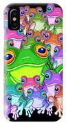 Colorful Froggy Family IPhone Case