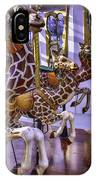 Colorful Giraffes Carrousel IPhone Case