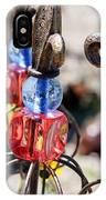 Colorful Glass And Metal Garden Ornaments IPhone Case
