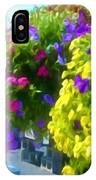 Colorful Large Hanging Flower Plants 1 IPhone Case