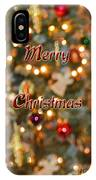 Colorful Lights Christmas Card IPhone Case