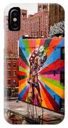 Colorful Mural Chelsea New York City IPhone Case