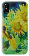 Colorful Original Sunflowers Flower Garden Art Artist K. Joann Russell IPhone Case