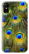 Colorful Plumage Of Peacock IPhone X Case