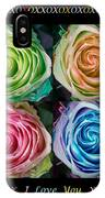 Colorful Rose Spirals With Love IPhone Case