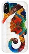 Colorful Seahorse Art By Sharon Cummings IPhone Case