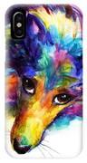 Colorful Sheltie Dog Portrait IPhone X Case