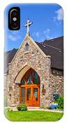 Colorful Stone Catholic Church In North Bay Of Lake Nipissing-on IPhone Case