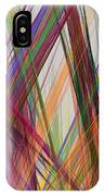 Colorful Straight Line Fractal Flame IPhone Case
