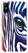Colorful Stripes Original Zebra Painting By Madart IPhone Case