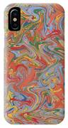 Colorful Swirls Drip Painting IPhone Case