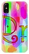 Colorful Texturized Alphabet Rr IPhone Case