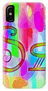 Colorful Texturized Alphabet Ss IPhone Case