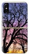 Colorful Tree White Farm House Window Portrait View IPhone Case