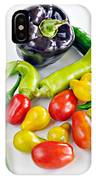 Colorful Veggies On White IPhone Case