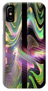 Colorful Waves And Stripes Fractal Art IPhone Case