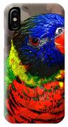 Colors Of The Lorikeet IPhone Case
