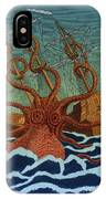 Colossal Octopus Attacking Ship 1801 IPhone Case