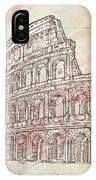Colosseum Hand Draw IPhone Case