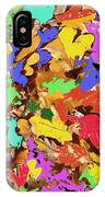 Coloured Oak Leaves By M.l.d. Moerings 2009 IPhone Case