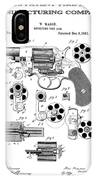 Colt Revolver Patent Art 3  -  1881  IPhone Case