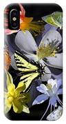 Columbine And Butterfly Collage IPhone Case