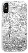 Columbus Arriving At Guanahani IPhone Case