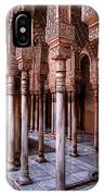 Columns Of The Court Of The Lions IPhone Case