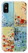 Combo Flowers IPhone Case