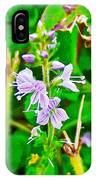 Common Speedwell On Skyline Trail In Cape Breton Highlands National Park-nova Scotia  IPhone Case