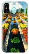 Como Conservatory's Fall Display. St Paul Minnesota. IPhone Case