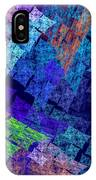 Computer Generated Abstract Julia Fractal Flame IPhone Case