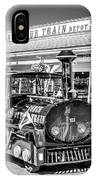 Conch Tour Train 1 Key West - Black And White IPhone Case