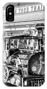 Conch Tour Train 2 Key West - Square - Black And White IPhone Case