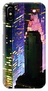 Concrete Canyons Of Manhattan At Night  IPhone Case