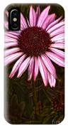 Coneflower And Dusty Miller Hdr IPhone Case