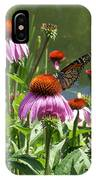 Coneflower With Butterfly IPhone Case