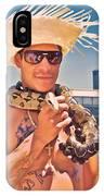 Coney Island Snake Man IPhone Case