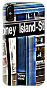 Coney Island Train Station IPhone Case