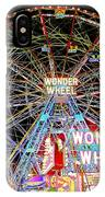 Coney Island's Famous Amusement Park And Wonder Wheel IPhone Case