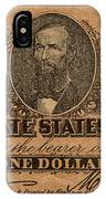 Confederate Dollar Bill IPhone Case