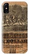 Confederate Ten Dollars IPhone Case