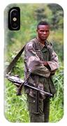 Congolese Soldier Standing Guard IPhone Case